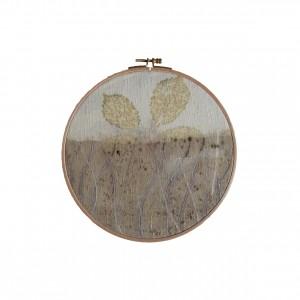 BAIN n°41 EMPREINTE n°02 / ronce sur soie dans bain de ronces / diam. 22 cm - 100 €