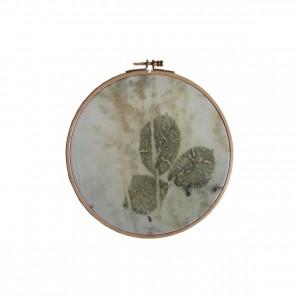 BAIN n°35 EMPREINTE n°05 / ronce sur laine dans bain d'eucalyptus / diam.19 cm - 80 €