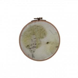 BAIN n°38 EMPREINTE n°02 /arbre de judée, eucalyptus dans bain d'eucalyptus / diam.16cm - 80 €