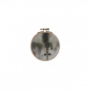 BAIN n°35 EMPREINTE n°03 / ronces sur fer dans bain d'eucalyptus / diam.10 cm - 30 €