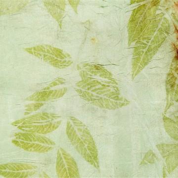 empreinte de frêne sur soie