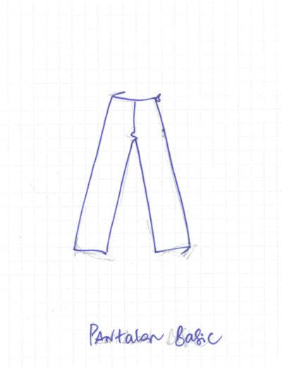 dessin de pantalon basic de mapie des vignes