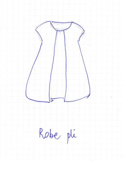 dessin de la robe pli de mapie des vignes