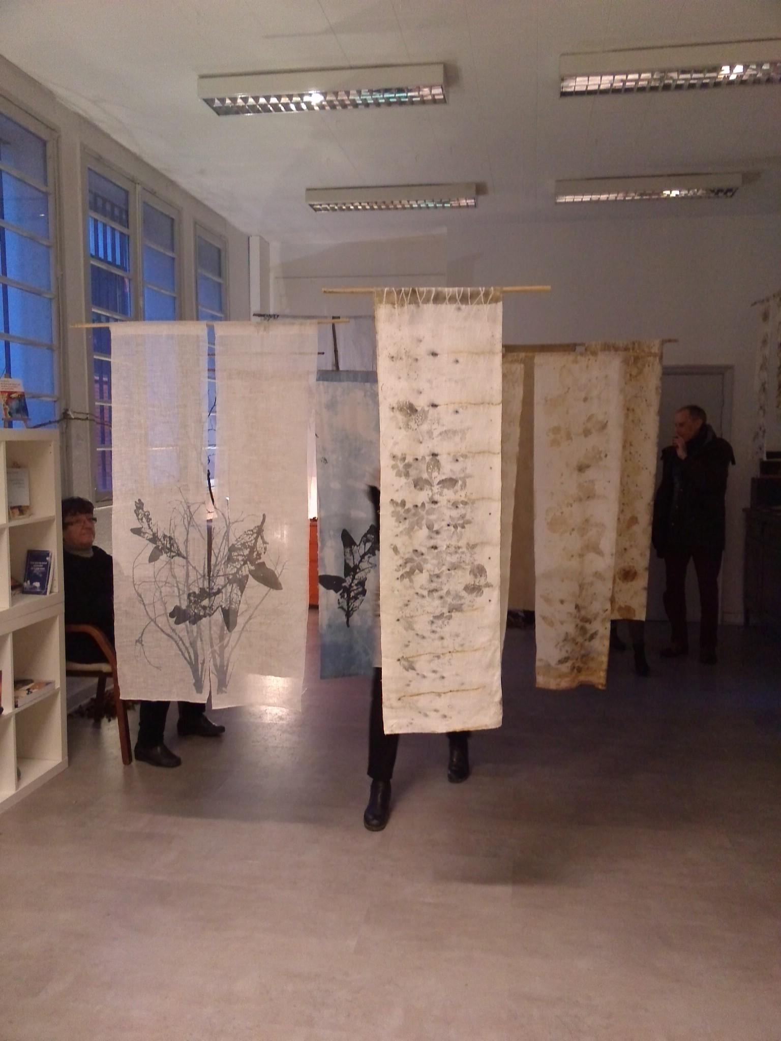exposition Shinrin-Yoku de mapie des vignes et helena sellergren.