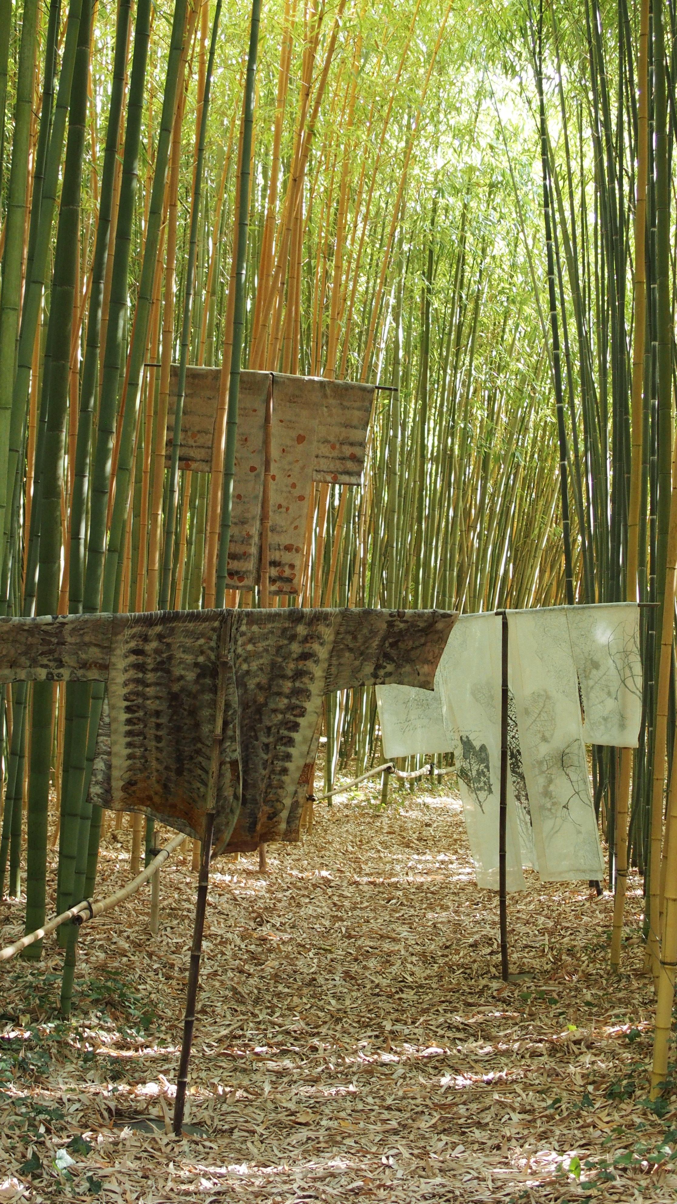 """exposition Shinrin-Yoku de mapie des vignes et helena sellergren.kimonos """"Sous Bois"""", """"Poésie d'Automne"""", """"Coeur d'Automne"""""""